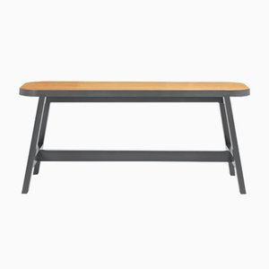 Banco Mini Bench Three de roble en gris Chamberlayne de Another Country