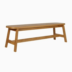 Large Oak Bench Three by Another Country
