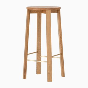 Medium Oak Bar Stool Four by Another Country