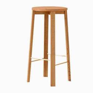 Large Ash Bar Stool Four by Another Country
