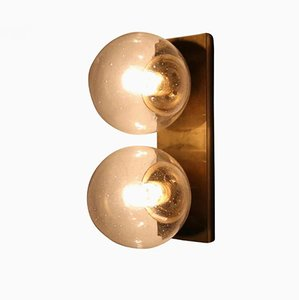 Vintage Double Brass Wall Sconce