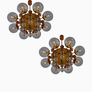 Lampadari Mid-Century, anni '50, set di 2