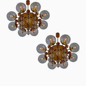 Mid-Century Chandeliers, 1950s, Set of 2