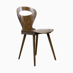Braune Vintage Holzstühle, 1960er, 4er Set