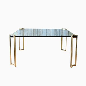 Vintage Glass Coffee Table by Peter Ghyczy, 1970s