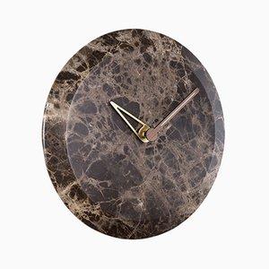 Bari M Emperador Clock by Andrés Martínez for NOMON