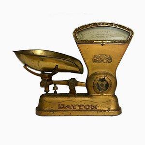 Báscula vintage de hierro y latón de Dayton, años 20