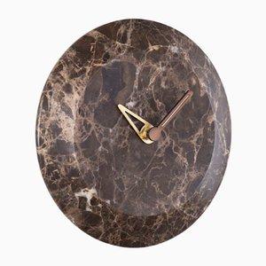 Bari S Emperador Clock by Andrés Martínez for NOMON