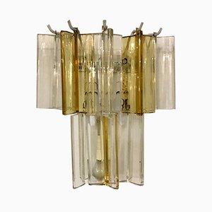 Apliques Mid-Century de cristal de Murano de Paolo Venini. Juego de 2