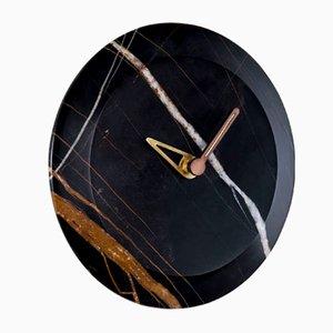 Bari S Sahara Noir Clock by Andrés Martínez for NOMON