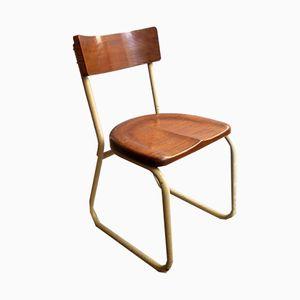 Industrieller Vintage Stuhl aus Metallrohr, 1930er