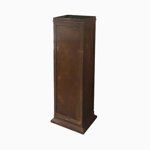 Cast Iron & Marble Display Pedestal, 1940s