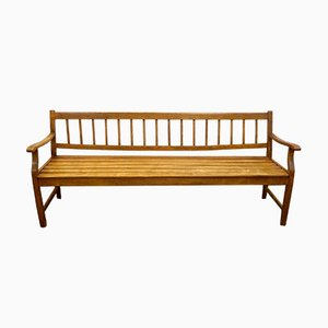 Wooden Biedermeier Bench, 1840s