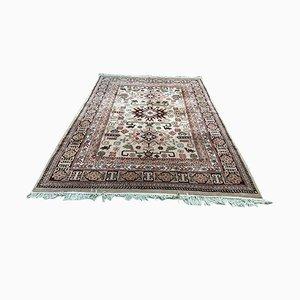 Handgefertigter orientalischer Teppich aus Wolle & Seide, 1950er