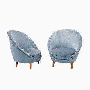 Italienische Vintage Egg Chairs, 1950er, 2er Set