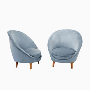 Vintage Italian Egg Chairs, 1950s, Set of 2