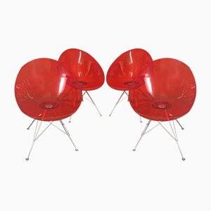 Eros Chairs by Philippe Starck for Kartell, 1990s, Set of 4