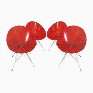 Sillas Eros de Philippe Starck para Kartell, años 90. Juego de 4