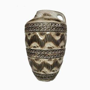 Westdeutsche Mid-Century Bodenvase aus Keramik von Carstens Tonnieshof