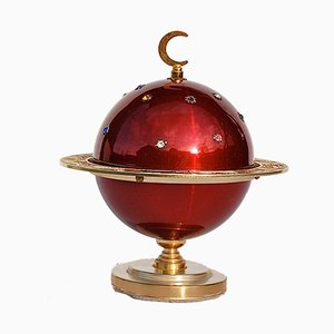 Red & Gold Zodiac Globe Cigarette Holder, 1960s