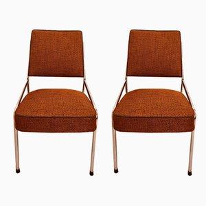 Ungarische Spring Stühle aus Chrom, 1963, 2er Set