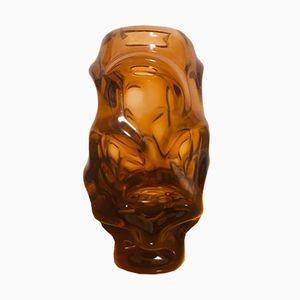 Brown Glass Vase by Jan Beranek for Skrdlovice, 1960s