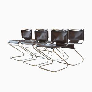Chaises Biscia par Pascal Mourgue pour Steiner, 1960s, Set de 6
