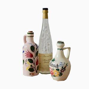 Botellas de cerámica de Elchinger, años 50. Juego de 2