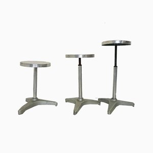Vintage Industrial Stools, 1970s, Set of 3