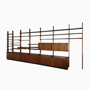 Large Teak Wall Unit by Dieter Wäckerlin for Behr, 1950s