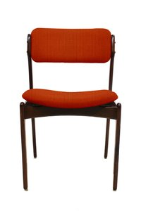 Customizable Vintage Models OD49 & OD50 Chairs by Erik Buch for O. D Møbler A.S, Set of 4 in Coral Red