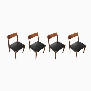 Mid-Century Esszimmerstühle von Arne Hovmand Olsen für Mogens Kold, 1960er, 4er Set