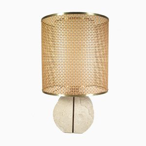 Travertine Table Lamp by Fratelli Manelli, 1970s