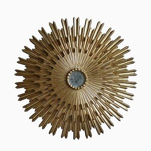 Triple Layered Sunburst Mirror, 1950s