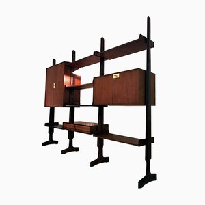 Teak Modular Shelf by Vittorio Dassi & Edmondo Palutari, 1950s