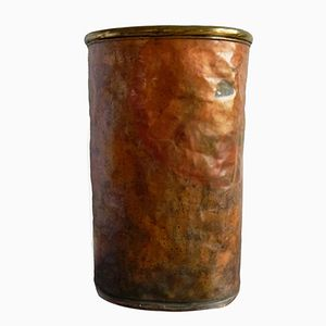 Vintage Hammered Copper Umbrella Stand, 1980s