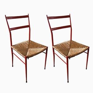 Italienische Stühle, 1960er, 2er Set