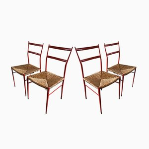 Chaises Superleggera par Gio Ponti, 1960s, Set de 2