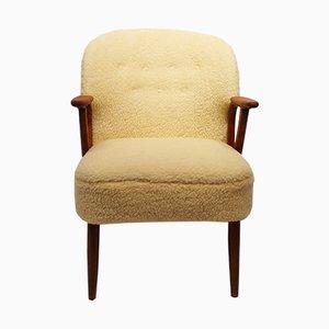 Dänischer Armlehnstuhl aus Wolle, 1960er
