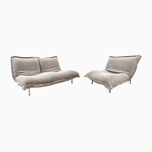 Calin Pillow Sofa & Chair by Pascal Mourgue for Cinna, 1980s