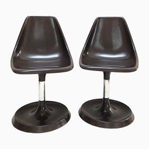 Braune Tulip Stühle aus Harz, 1950er, 2er Set