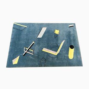 Wollteppich mit geometrischem Muster im Memphis-Stil von Fritsch Design, 1984