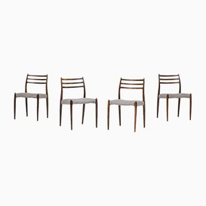 Model 78 Dining Chairs by Niels Otto Møller, 1950s, Set of 4