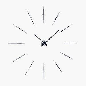 Horloge Merlin i 12ts Noire par José Maria Reina pour NOMON