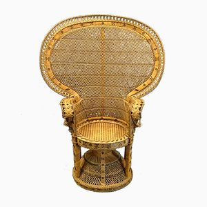 Vintage Peacock Stuhl aus Rattan, 1960er