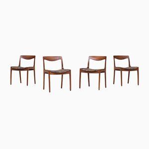 Chaises de Salle à Manger par Wilhelm Volkert pour Poul Jeppesen, 1960s, Set de 4