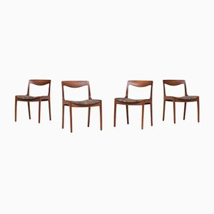 Dining Chairs by Wilhelm Volkert for Poul Jeppesen, 1960s, Set of 4