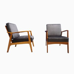 Mid-Century Czech Armchairs from ULUV, 1950s, Set of 2