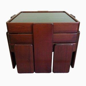 Tavolini ad incastro di Gianfranco Frattini per Cassina, anni '60, set di 3