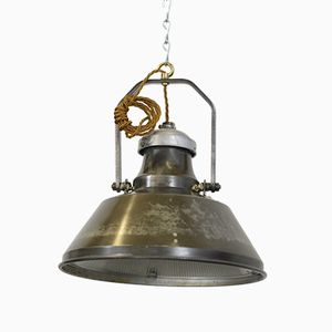 Industrial Pendant Light from Holophane, 1930s